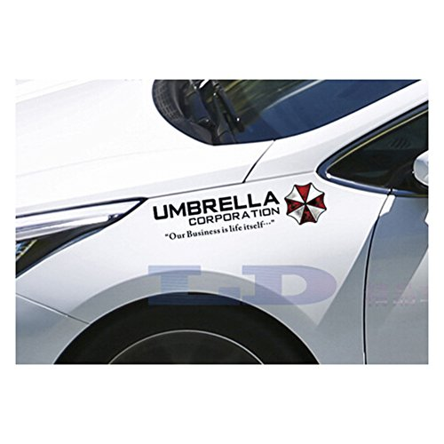 40cm*10cm Set 2 Resident Evil Stickers Umbrella Corporation Car Rear Window Decal