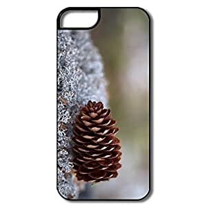 IPhone 5 5S Cases, Lichens Pine Cone White/black Cases For IPhone 5S