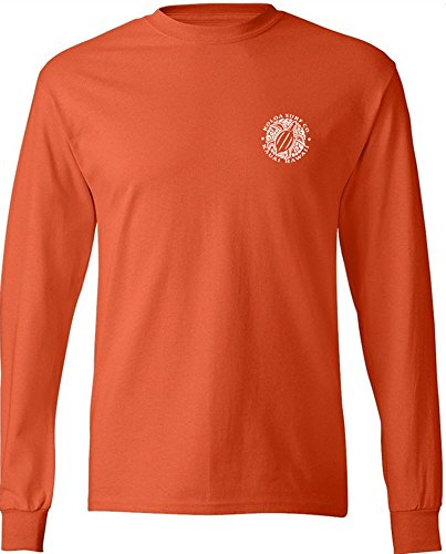 Joe's USA Koloa Surf(tm) Hawaiian Turtle Logo Long Sleeve T-Shirt-Orange-L ()