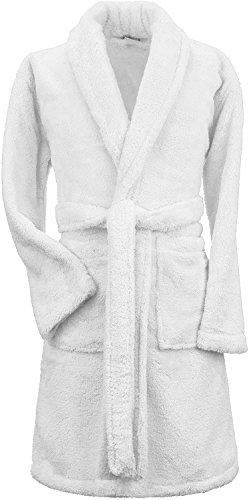 Boys and Girls Plush Shawl Robe Super Soft Fleece Bathrobe Made in Turkey