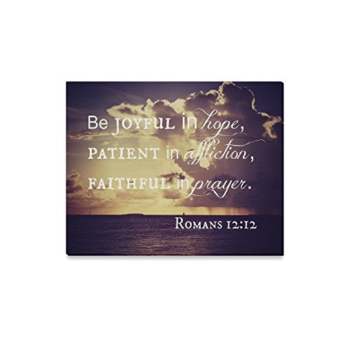 Christmas Decor Christmas Day/Thanksgiving Decor Bible Quotes/Verse Be joyful in hope Canvas Print Modern Wall Art for Home Decoration (20x16inch)