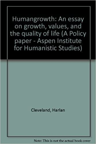Formal Essays Humangrowth An Essay On Growth Values And The Quality Of Life A Policy  Paper  Aspen Institute For Humanistic Studies Harlan Cleveland    Example Of A Research Essay also Essays On Great Expectations Humangrowth An Essay On Growth Values And The Quality Of Life A  Can You Ask Questions In An Essay