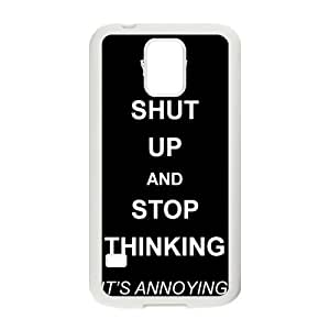 Shut up and stop thinking keep calm and pin Phone Case for Samsung Galaxy S5 Case