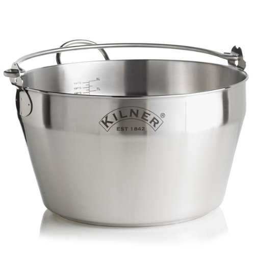 Kilner Stainless Steel Jam Pan 30cm | Maslin Pan, Preserving Pan, Jam Making Pan