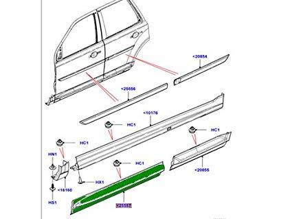 Genuine LAND ROVER FRONT DOOR LOWER MOULDING LR2 RH LR044654