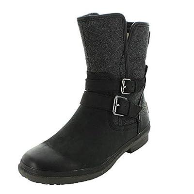 UGG Womens Simmens Black Winter Boot - 6