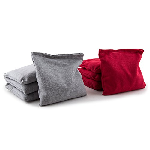 CANT STOP PARTY SUPPLIES Set of 8 Regulation Size 6 x 6 Cornhole Bean Bags - Gray & Red