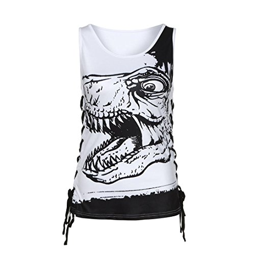 Wintialy Women Summer Sleeveless Vest Top Octopus Print Tank Top Vest Notes Strappy Tops