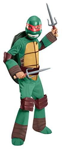 Girls Costumes Raphael Deluxe (UHC Boy's TMNT Raphael Deluxe Outfit Child Fancy Dress Halloween Costume, Child S)
