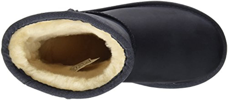 UGG Classic Short Leather, Unisex Kids' Ankle Boots, Blue (Peacoat), 5 UK