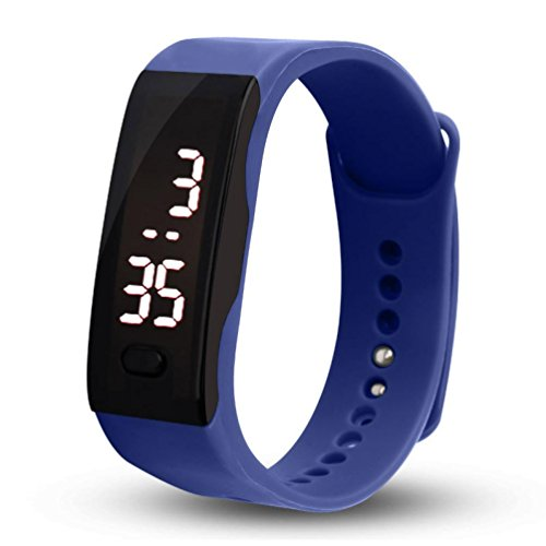 Malltop LED Watch, Unisex Rubber Bracelet Life Water Resistant Touch Screen White LED Digital Display Sports Wrist Watch