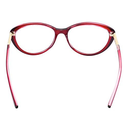 ... Forepin® Lunettes de Vue Vintage pour Femme et Homme Verre Transparent  Cadre Frame Lentille Claire ... 7b3b6ab2ccc5