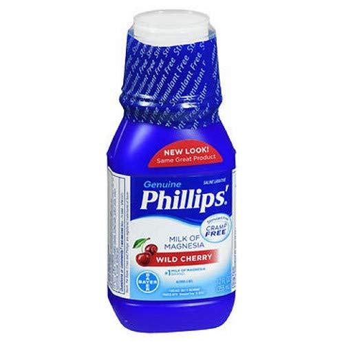 Phillips' Milk of Magnesia Wild Cherry 12 oz (Pack of 4)