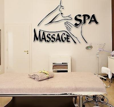 Wall Stickers Vinyl Decal Spa Massage Beauty Salon Relax VS1704