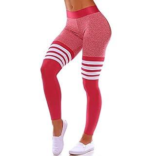 Women High Waisted Leggings Seamless Workout Yoga Pants Butt Lift Tummy Control L