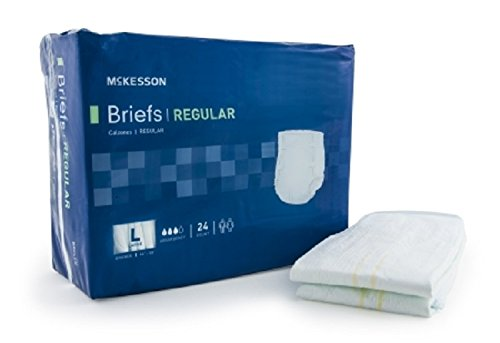 Adult Disposable Brief Diaper, Large, Moderate Absorbency...