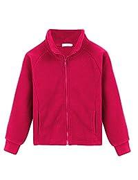 Arshiner Girls' Fleece Coat Solid Polo Jacket