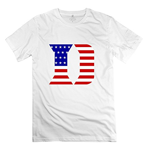 Men's Vintage NCAA Duke University Flag T-shirt S White