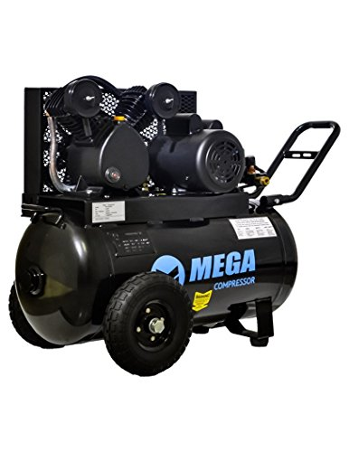 MP-2020EH Megapower Horizontal Air Compressor, Single Stage, 20 gallon