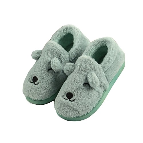 CYBLING Winter Womens Warm Soft Comfortable Anti-slip House Slipper Loafe Shoes Green HqDXgie
