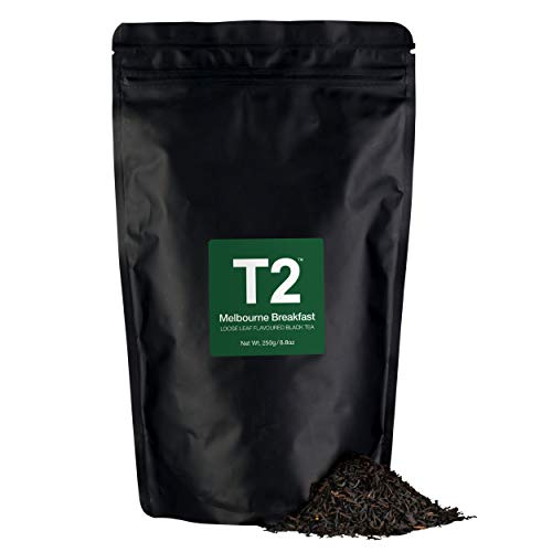 - T2 Tea Melbourne Breakfast Loose Leaf Black Tea in Resealable Foil Refill Bag, 250g (8.8 Ounce)