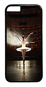 iPhone 6 Plus Case, Ballerina Designer Rugged Hard Plastic Back Case Cover Protector for Apple iPhone 6 Plus(5.5INCH) PC Black