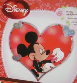 disney mickey mouse valentines day heart lighted 12 window decor