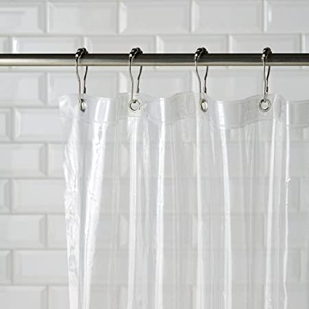 PEVA Antimicrobial Shower Curtain Liner PVC Free Clear