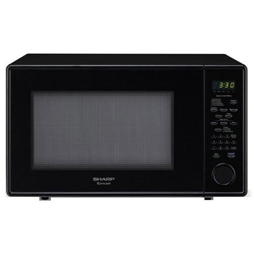 Sharp Carousel 1.8 Cu. Ft. 1100W Countertop Microwave Oven – Black