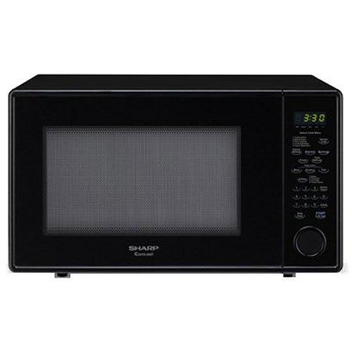 Sharp Carousel 1.8 Cu. Ft. 1100W Countertop Microwave Oven – Black