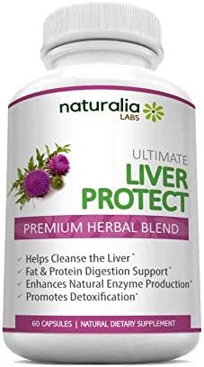 Naturalia Labs – Liver Cleanse Support & Detoxifier - Gallbladder Detox & Rescue- New Improved Formula Supplement Capsules - w Milk Thistle Silymarin, Beet Root Powder, Dandelion Root, Chicory, Zinc