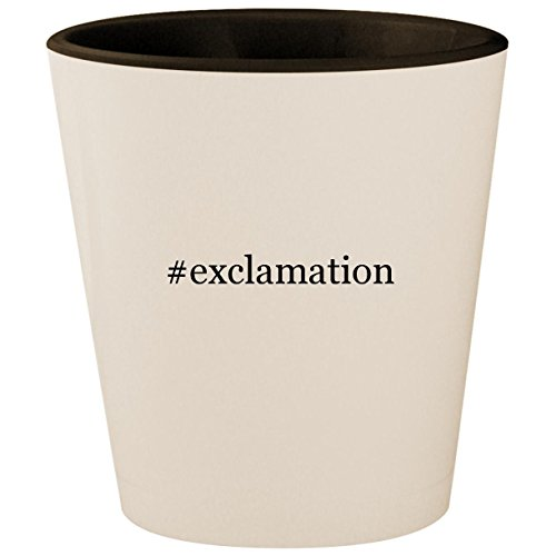#exclamation - Hashtag White Outer & Black Inner Ceramic 1.5oz Shot Glass ()