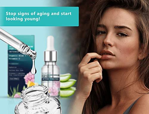 41TmLTpuYpL - Hyaluronic Acid Serum for Face, Repairs Damaged Skin, All Natural with Vitamin C, E, Jojoba Oil, Witch Hazel. (Anti Aging Formula)
