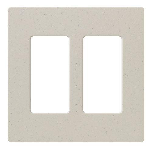 Lutron Claro 2 Gang Decorator Wallplate, SC-2-LS, Limestone (Gang Switchplates)