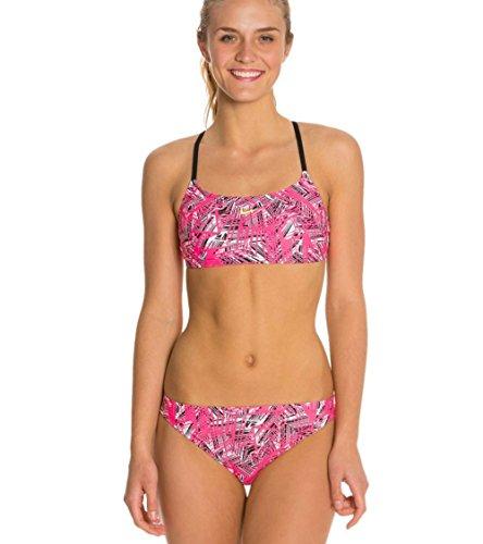 - Nike Scatterbrain Cross Back 2-Piece Swimsuit (26, Pink Flamingo)