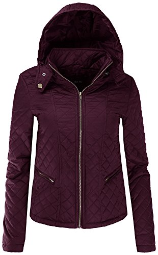 Quilted Detachable Hood Jacket - 4