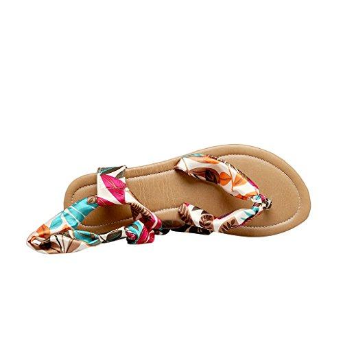 Open Teen Slippers Plunge Slingback Wrap Platte String Sandalen Van Onze Beste Tijd Blauw