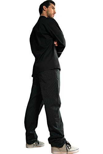 Executive Chef Pants (Averill's Sharper Uniforms Men's Executive Chef Pants with Belt Loops and Zipper XL Black and White Pinstripe)