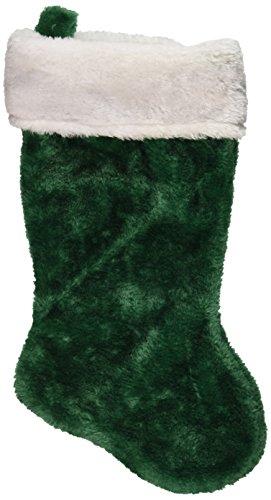 1 X Green Plush Christmas Stocking by Century Novelty ()