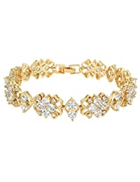 Ever Faith Full Cubic Zirconia Bridal Classic Tennis Bracelet Clear