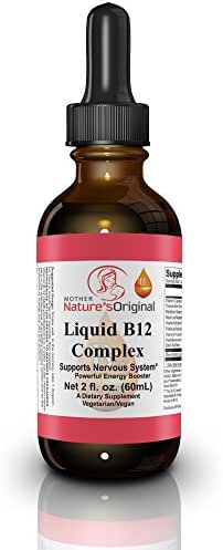 Vitamin B12 Sublingual Non GMO Liquid Complex ✯ Methylcobalamin - Superior Absorption Over Pills to Increase Metabolism, Vegan, Healthy Energy Boost + Infused w/VIT C- Mood Enhancer, 2 fl oz