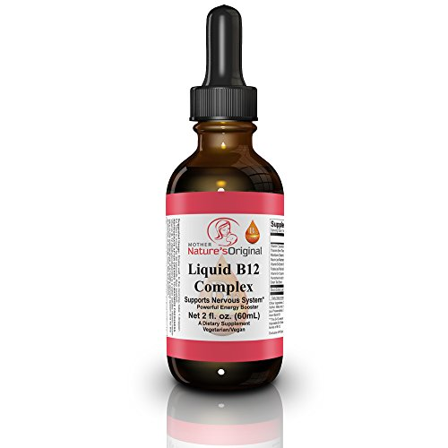 Vitamin B12 Sublingual Non GMO Liquid Complex ✯ Methylcobalamin - Superior Absorption Over Pills to Increase Metabolism, Vegan, Healthy Energy Boost + Infused w/ Vit C- Mood Enhancer, 2 fl oz