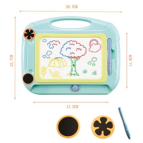 BiuBuy Magnetic Doodle Board Toys for 1-4 Year Old Boys Gifts, Baby Drawing Board for Kids Toys for Boys Age 1 2 3 Sketch Pad for Toddlers Boys Birthday Gift (Green-A)