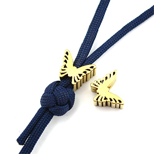 Sonjer Brass Knife Beads Paracord Umbrella Rope Cord Outdoor EDC Butterfly Lanyard Beads