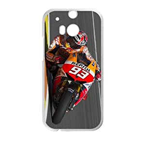 HTC One M8 Cell Phone Case White Marc Marquez PYF 3D Hard Phone Case