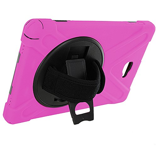 Galaxy Tab A 10.1 Case Cover by KIQ TM Hybrid Protective Shield Case Cover w/ Palm Handstrap for Samsung Galaxy Tab A 10.1 P580 w/ S Pen (Shield Hot Pink) (Samsung Galaxy Tab S Case Rugged)