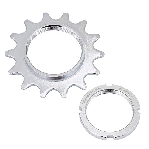 haineg Single Speed Freewheel, High Strength Steel Bicycle Flywheel Sprockets Parts for Fixed Gear Bike 13/14/15/16T by haineg
