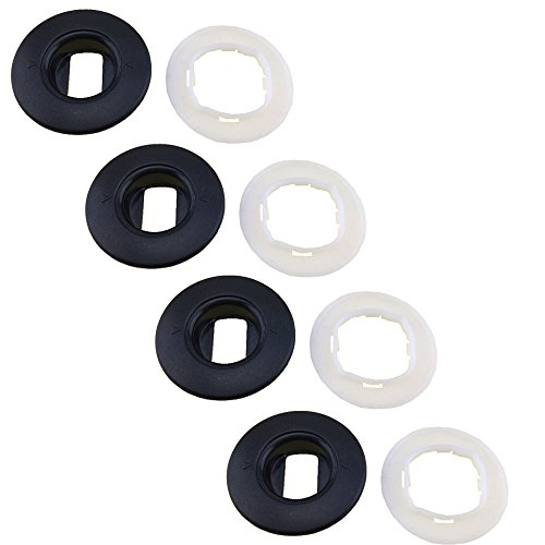 JIFFYY Oval Car Mat Clips Floor Holders Fixing Clamps Set of 4 Clips for Toyota Lexus