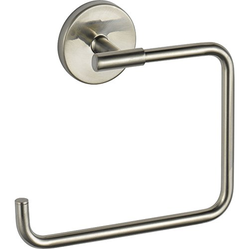 Delta Modern Stainless Steel Finish Trinsic Collection Single Handle Bathroom Lavatory Sink Faucet with Metal Pop-Up and Towel Ring Package D007CR by DELTA FAUCET (Image #2)