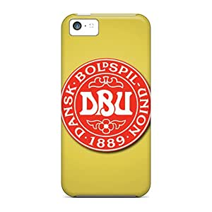 Premium Protection Denmark Football Logo Case Cover For Iphone 5c- Retail Packaging